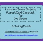 Longview School District Report Card Checklist – 3rd Grade