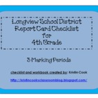 Longview School District Report Card Checklist – 4th Grade