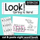 "Interactive Sight Word Reader ""Look! Spring is Here!"""