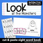 """Look at the Monsters"" Interactive Sight Word Reader"