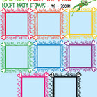 Loopy Heart Square Frames - Graphics From the Pond