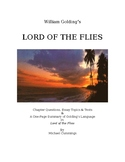 Lord of the Flies  Chapter Questions 12 Tests and 15 Essay Topics
