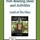 Lord of the Flies Post-Reading Activity Pack