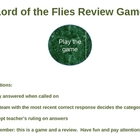 Lord of the Flies Power Point Trivia Review Game