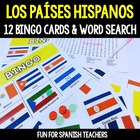 Los Países Hispanohablantes {Bingo & Word Search}
