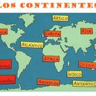 Los continentes - learning the continents and oceans in Spanish