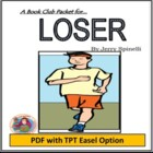 Loser, by Jerry Spinelli: A Bookclub Packet