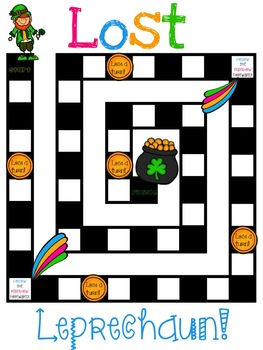 Lost Leprechaun Antonym/Synonym Game Board FREEBIE