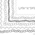 Lots-a-Dots Clip Art Border Frames