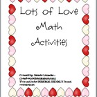 Lots of Love Math Activities