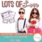 Lots of Love--Valentines Math and Literacy Stations Common