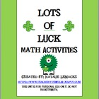 Lots of Luck Math Activities