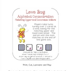 Love Bug Alphabet Concentration  (Upper to Lowercase Letters)