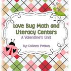 Love Bug Valentine&#039;s Math and Literacy Centers