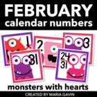 Love Monsters Calendar Numbers