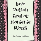 Love Potion:  Valentine's Day Real and Nonsense  Words