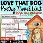 Love That Dog Reader&#039;s Response Journal for Students