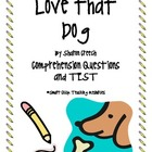 &quot;Love that Dog&quot;, by S. Creech, Comprehension Questions/Test