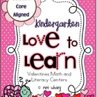 Love to Learn - Kindergarten Valentines Centers (Math and