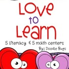 Love to Learn Valentine's Day Centers {5 Lieracy & 5 Math}