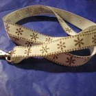 Lovely Snowflake Ribbon Lanyard
