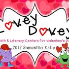 Lovey Dovey Valentine's Math and Literacy Centers