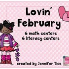 Lovin' February Math and Literacy Centers