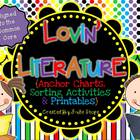 Lovin' Literature {Anchor Charts, Sorting Activities & Pri