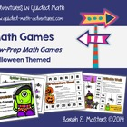 Low-Prep Halloween Math Games - Math Centers