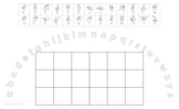 Lowercase Alphabet Arc Mat with American Sign Language and