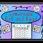 Lowercase Letters Roll and Read Center Game