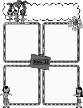 Luau Newsletter Templates to Accompany Luau Binder Set