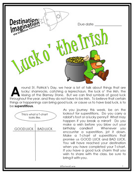 Luck o' the Irish (Destination Imagination)