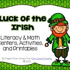 Luck of the Irish (Literacy & Math Centers, Activities, an