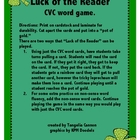 Luck of the Reader CVC Word Game