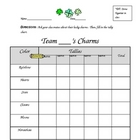 Lucky Charms Graphing Lesson &amp; Criteria Checklist