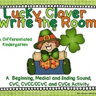Lucky Clover Write the Room-Aligned and Differentiated CVC