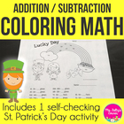 Lucky Day Math: St. Patrick's Day Addition and Subtraction