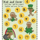 Lucky Gingers! Adding 3 Numbers Roll and Cover- Free