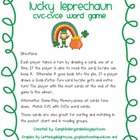 Lucky Leprechaun CVC -CVCe Word Card Game