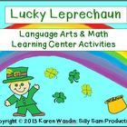 Lucky Leprechaun Language Arts & Math Learning Center Activities