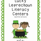 Lucky Leprechaun Literacy Centers-Sample Version