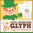 Lucky Leprechaun St. Patrick's Day Glyph Craft and Worksheets
