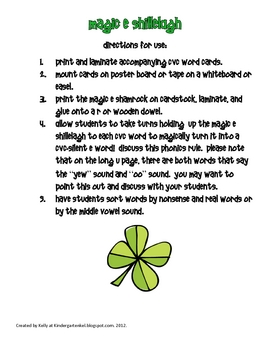 Lucky Leprechaun's St. Patty's Day Packet