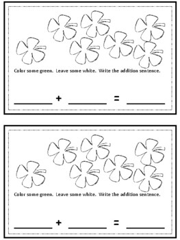 Lucky Shamrock Addition & Subtraction booklets - St Patricks Day