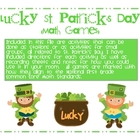 Lucky St. Patrick&#039;s Day Common Core Math Games