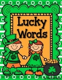 Lucky Words:  Roll a Word  Real and Nonsense Great for Dib