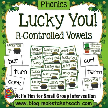 Lucky You! R-Controlled Vowels St. Patrick's Day Card Game