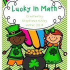 Lucky in MATH - 24 Print and Go Sheets