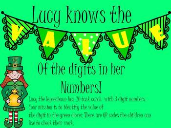 Lucy Leprechaun Knows the Value of the Digits in Her Numbers (St. Patrick's Day)